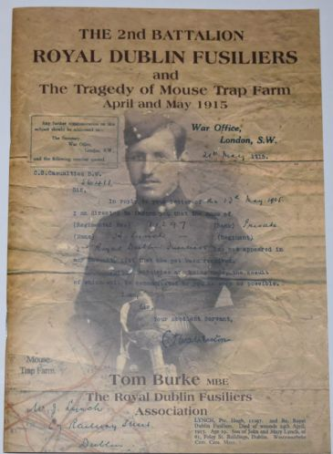 The 2nd Battalion Royal Dublin Fusiliers and the Tragedy of Mouse Trap Farm, April & May 1915